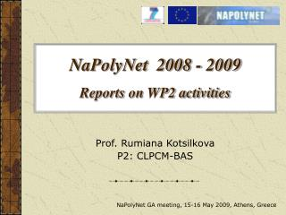 NaPolyNet  2008 - 2009  Reports on WP2 activities