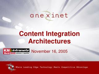 Content Integration Architectures