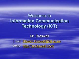 Welcome to  Information Communication Technology (ICT)