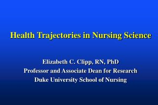 Health Trajectories in Nursing Science