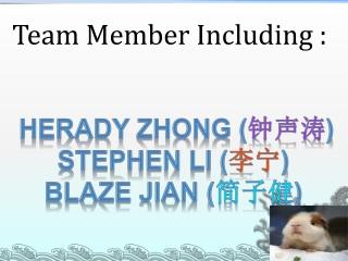 Team Member Including :