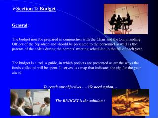 Section 2:  Budget General :