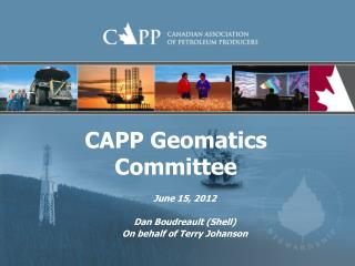CAPP Geomatics Committee