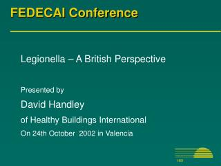 FEDECAI Conference