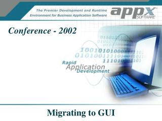 Migrating to GUI