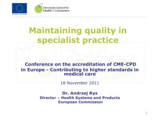 Maintaining quality in specialist practice