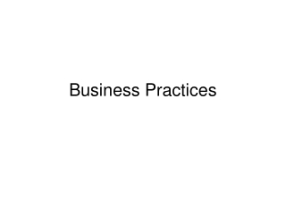 Business Practices