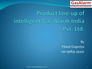Product line-up of  intelligent Gas Alarm India Pvt. Ltd.