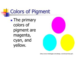 Colors of Pigment