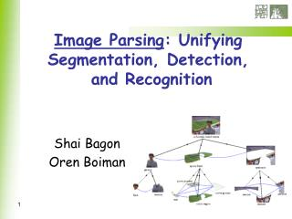 Image Parsing : Unifying Segmentation, Detection,  and Recognition