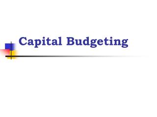 capital budgeting study findings 2 2 capital budgeting case study capital budgeting case study capital budgeting is important to any organization when making big business decisions that can be huge investments.