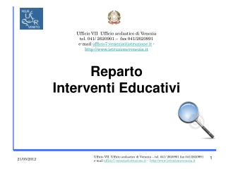Reparto  Interventi Educativi
