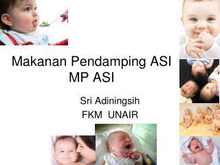 Makanan Pendamping ASI MP ASI