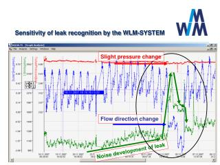 Sensitivity of leak recognition by the WLM-SYSTEM