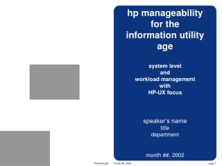 hp manageability for the  information utility age