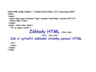 Co je to HTML?