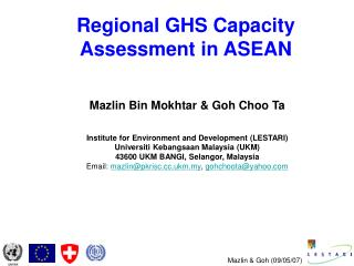 Regional GHS Capacity Assessment in ASEAN
