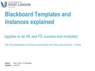 Blackboard Templates and Instances explained