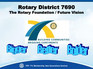 Rotary District 7690  The Rotary Foundation / Future Vision