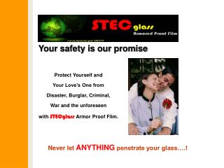 Your safety is our promise