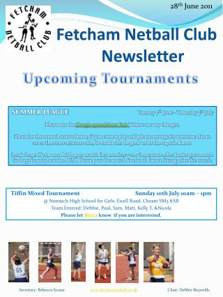 Fetcham  Netball Club    Newsletter