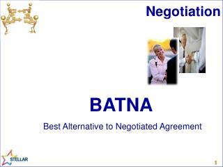 BATNA Best Alternative to Negotiated Agreement