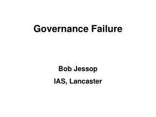 Governance Failure