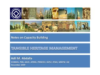 TANGIBLE HERITAGE MANAGEMENT