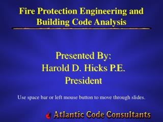 Fire Protection Engineering and Building Code Analysis