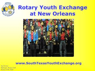 Rotary Youth Exchange  at New Orleans