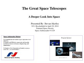 The Great Space Telescopes A Deeper Look Into Space