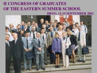 BRNO, 12-15 SEPTEMBER 2002