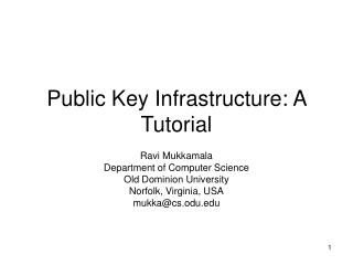 Public Key Infrastructure: A Tutorial