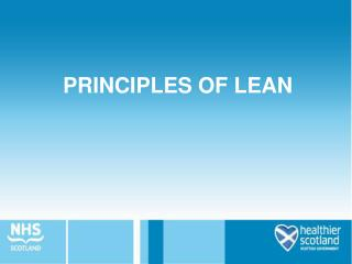 PRINCIPLES OF LEAN