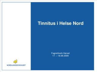 Tinnitus i Helse Nord