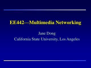 EE442—Multimedia Networking