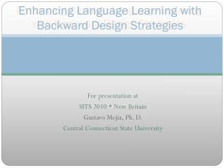 Enhancing Language Learning with Backward Design Strategies