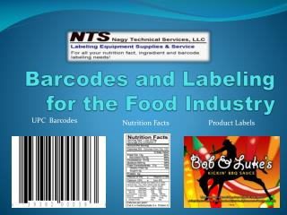 Barcodes and Labeling for the Food Industry