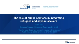 The role of the NGOs in the resettlement process