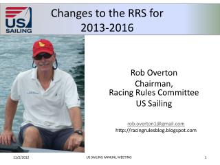 Changes to the RRS for 2013-2016