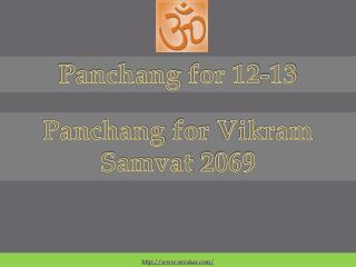 Panchang  for 12-13