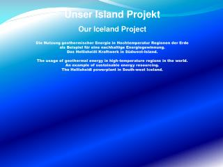 Unser Island Projekt Our Iceland Project