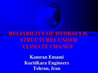 reliability of hydraulic structures under climate change