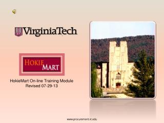 HokieMart On-line Training Module Revised 07-29-13