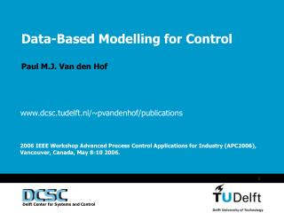 Data-Based Modelling for Control