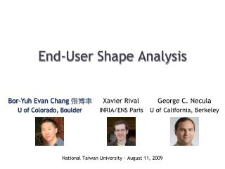 End-User Shape Analysis