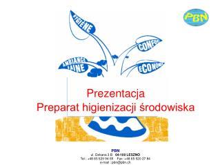 Pr ezentacja Preparat higienizacji środowiska