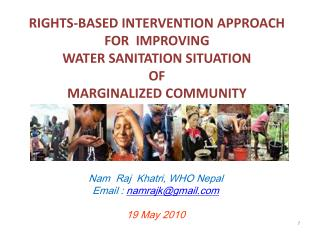 RIGHTS-BASED INTERVENTION APPROACH FOR  IMPROVING  WATER SANITATION SITUATION  OF