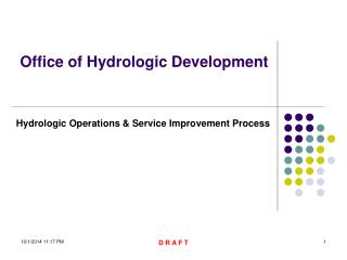 Office of Hydrologic Development