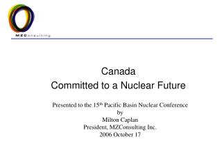 Canada  Committed to a Nuclear Future